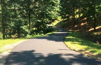 View of a well paved driveway in west Virginia
