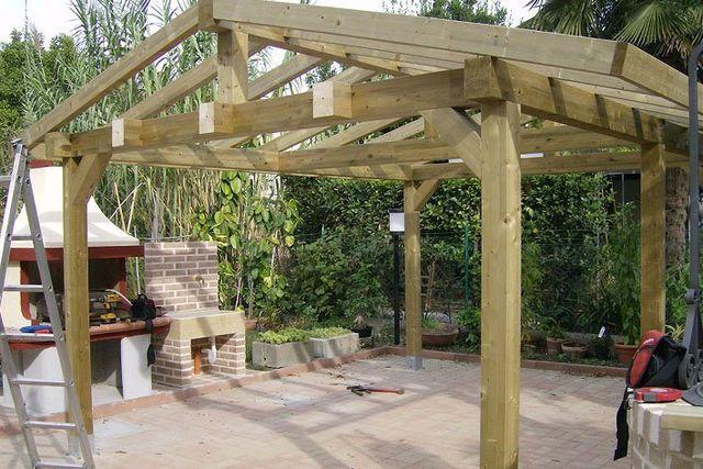 Struttura in legno per pergola NON SOLO OMBRA Ravenna