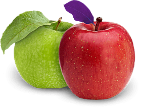 Granny Smith and Red Delicious apples