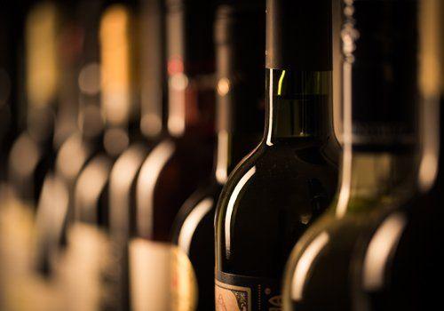 fila di vini