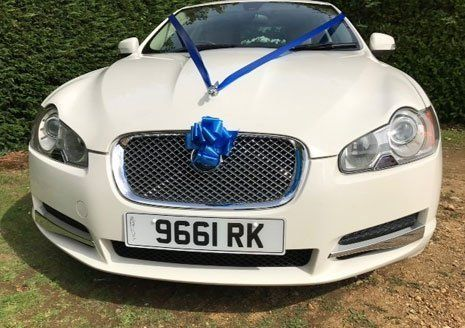 Car with a ribbon