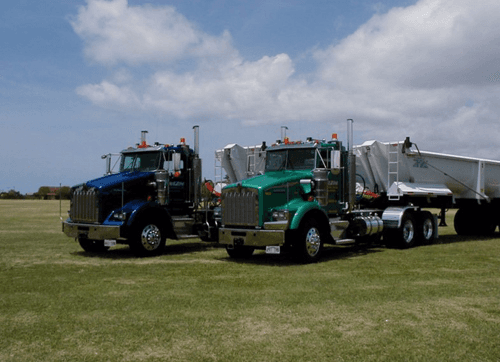 Trucking services in Pearl City by Amazon Construction