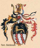 logo con stemma della casata su sfondo beige