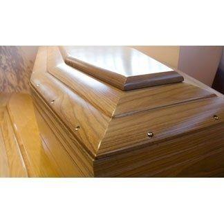 Cofano funebre in esposizione