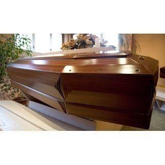 Cofano funebre legno scuro