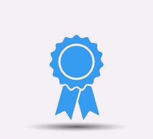 icona coccarda di una certificazione