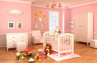 New baby rooms taken care of by Sam Brown - Hertfordshire's best female decorator