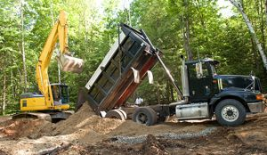 Excavating services in a forest near Black Creek, WI