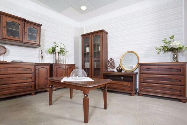 salone con mobili classici in legno
