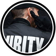 Uniformed security personnel