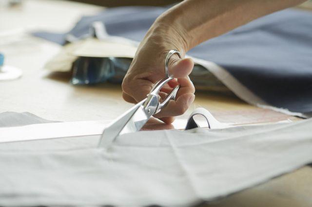 cutting a cloth