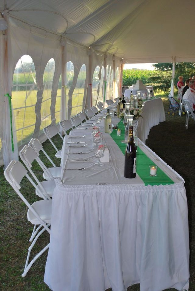 March wedding marshalls mid michigan tent party wedding party table set up in tent rented by marshalls party rentals junglespirit Images
