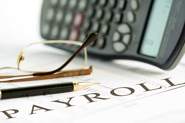 Payroll document in St. Charles