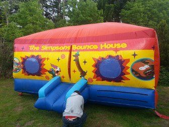 The Simpsons bounce house