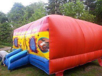 Simpsons themed bouncy castle