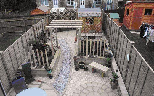 hard landscaping - Evesham - Castle Acre - back garden