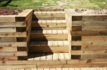 timber decking - Evesham - Castle Acre - steps