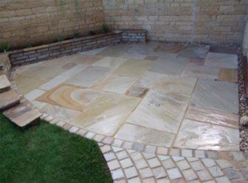 patio paving - Evesham - Castle Acre - patio design