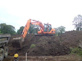Track diggers - Ballygowan, Newtownards - William Thompson & Son - Excavations