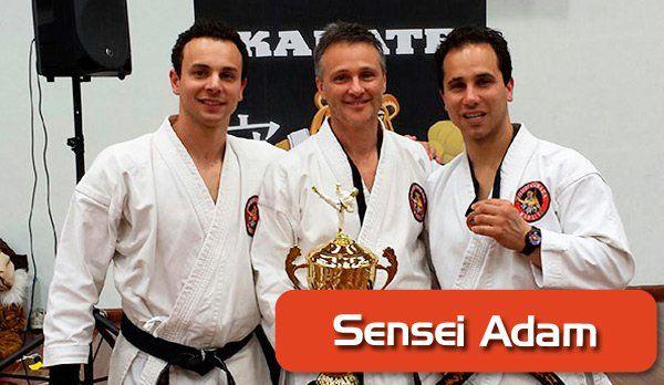 Sensei Adam, karate instructor
