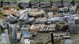 assortimento di pietre per costruzioni