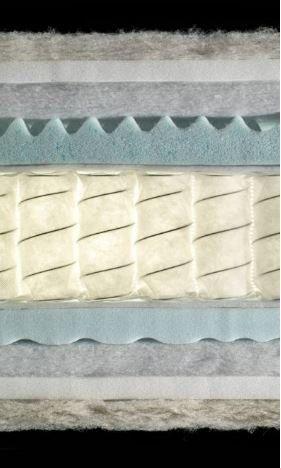 particolare di un materasso 800 molle Biorest Sensitive
