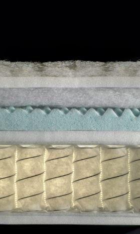 particolare di un materasso 800 molle Biorest Vantage