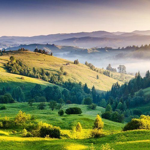 panoramica di una valle