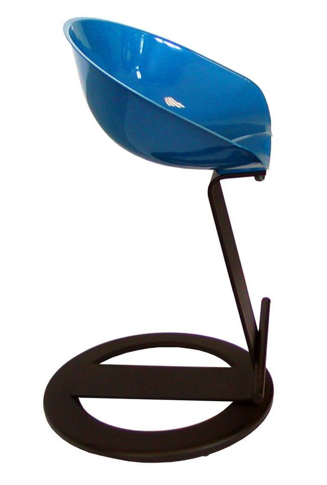 Blue design stool in Reggio Emilia