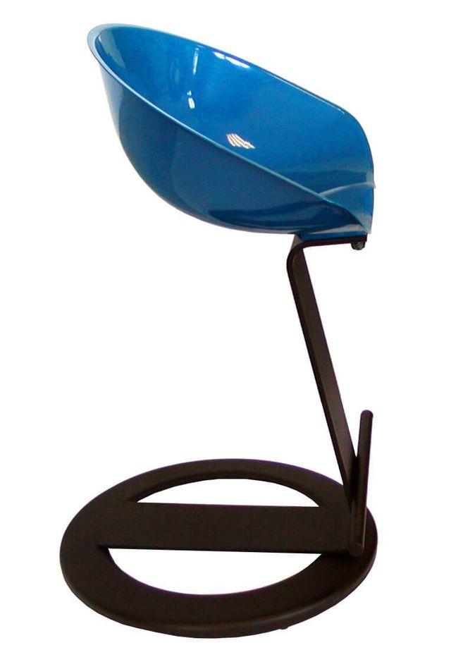 Blue design stool in Reggio Emilia