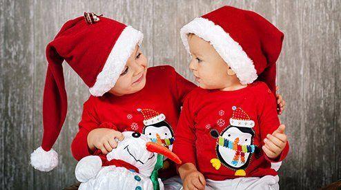 Kids in Christmas dress