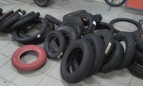 serie di gomme per motocicli