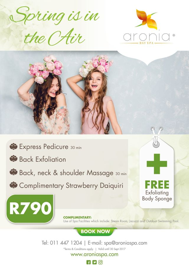Aronia Day  Spa  Promotion Spring