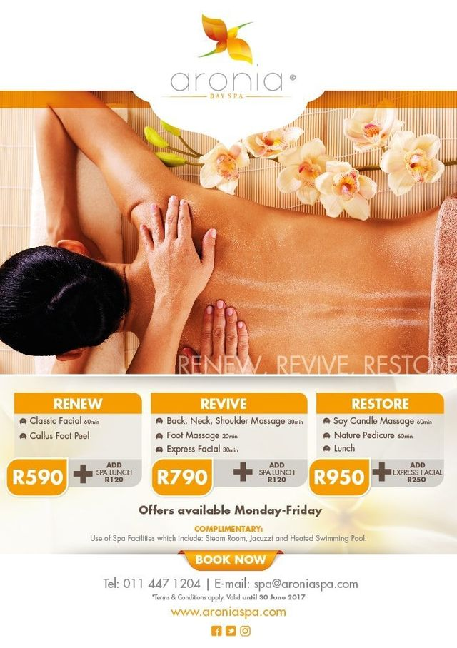 Aronia Day Spa Special Offers