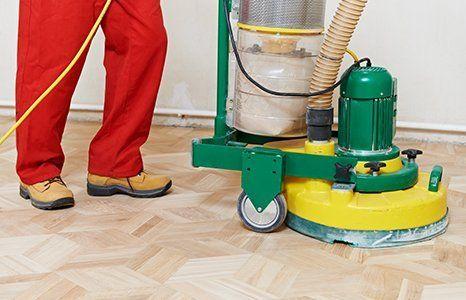 floor sanding in progress