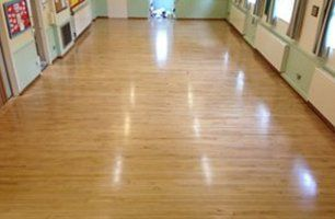 glossy wooden flooring
