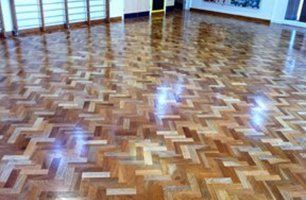 tiled wooden flooring
