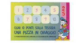 OGNI 10 PUNTI SULLA TESSERA UNA PIZZA IN OMAGGIO