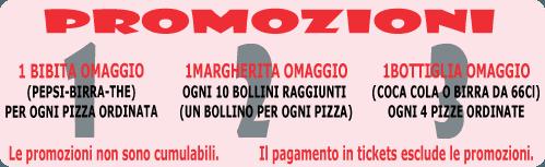Promozioni effettuate da Pizza Shop a Genova