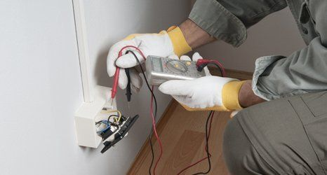 testing the electrical socket