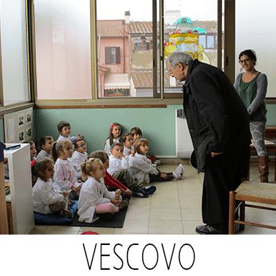 il vescovo con i bambini