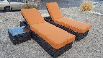 US Patio Furniture u2014 3pc Orange Chaise Lounge Set in Las Vegas NV & Wicker Furniture | Las Vegas NV | US Patio Furniture u0026 Repair