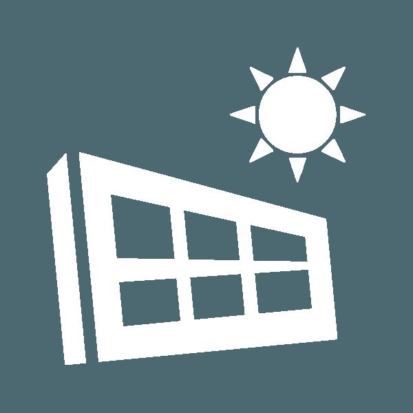 Icona casa e sole