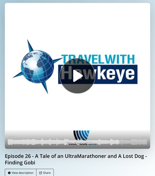 Travel with Hawkeye, Dion Leonard, Finding Gobi, Ultra Marathon Runner