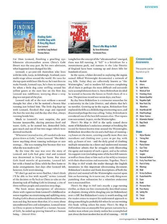 Canadian Running Magazine, Dion Leonard, Ultra marathon runner, Finding Gobi, China, Gobi Desert