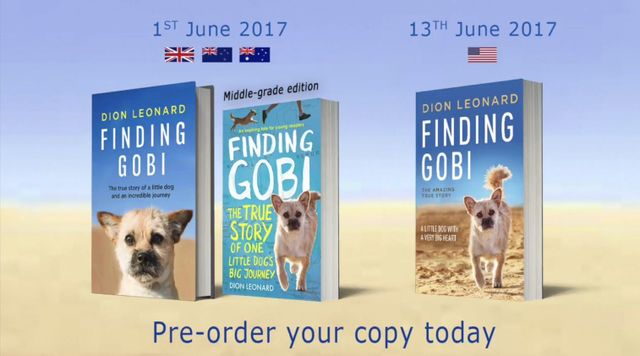 Finding Gobi, Dion Leonard, Gobi the Dog, Finding Gobi Book, Young Adult Version, Paperback, Hardback, Children's Picture Book