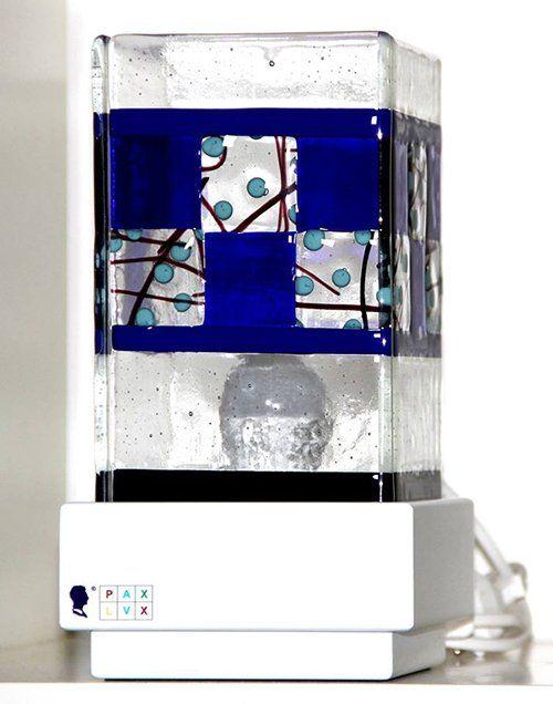 La lampada Pax Lux blu a Teolo
