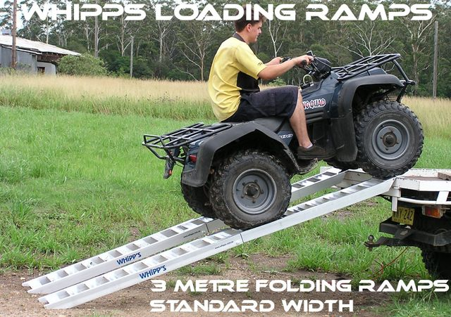 Loading ramps, atv loading ramps, ramps, aluminium ramps, quad bike ramps, folding ramps