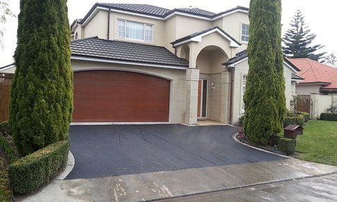 Newly surfaced driveway in a house