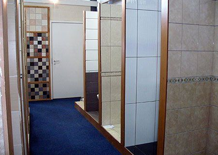 showroom in our tile shop